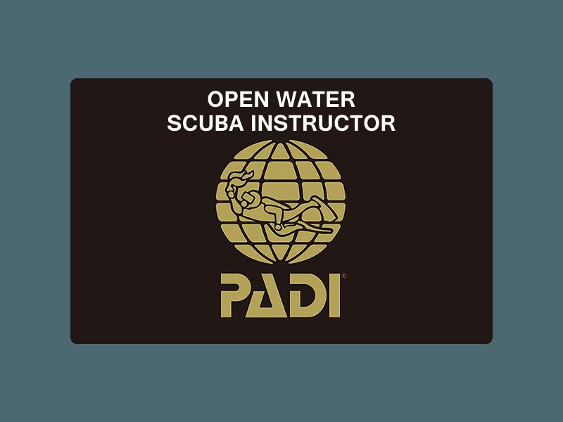 PADIオープンウォーターインストラクター
